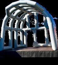 Aufblasbare Bühnenüberdachung mieten leihen